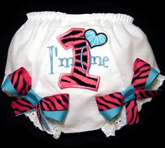 For under a tutu?  So Cute!    First Birthday Girl Bloomers M2M Mud Pie Zebra Print by whimsytots, $22.50