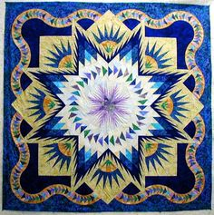 Glacier Star ~ Quiltworx.com by Certified Instructor, Fran Sargent