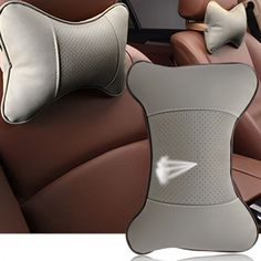 Synthetic Leather Auto Car Seat Head Neck Rest Cushion Headrest Pillow Pad 2 Pack