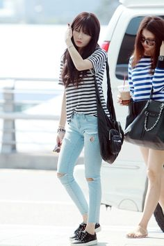 #Hyuna #kpop airport fashion