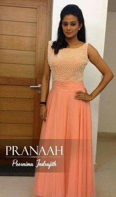 Beads work#top#plain skirt#pranaah