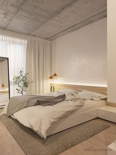 RENT ME: Modern Apartment Interior for Personal Character Design Modern Master Bedroom, Contemporary Bedroom, Minimalist House Design, Minimalist Bedroom, House Inside, Bedroom Layouts, Apartment Interior, Home Decor Bedroom, Home Interior Design