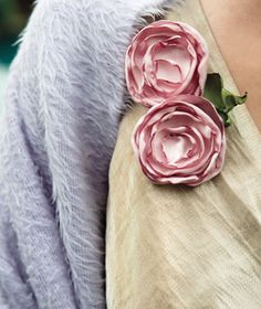 Fake flowers - fabric with burned edges ... interesting.  What do you think?