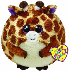 This adorable giraffe beanie baby is a perfect last minute stocking stuffer.