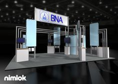Nimlok builds and designs portable and modular trade show booths and trade show exhibits. For BNA, we built a custom large scale exhibit to showcase their brand.