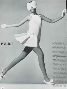 Vogue Italia, aprile 1968  Photo by Richard Avedon = Andre Courreges