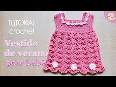 Como tejer vestido a crochet para bebe (2/2) - YouTube