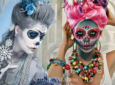 Halloween Makeup Ideas for Women - Sugar Skull Makeup  #halloween #halloweenmakeup #makeup #sugerskull