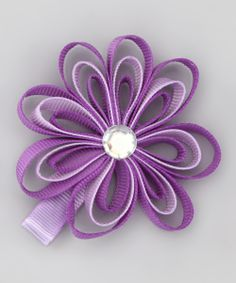 Purple Loopy Flower Clip