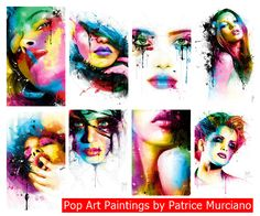 Pop Art Paintings by Patrice Murciano