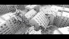 Procedural modeling and destruction done in Houdini for a graduation film.