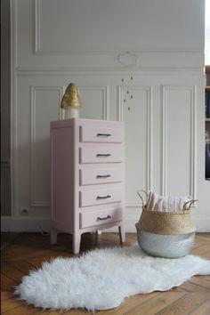 Diy relooking d 39 une commode vintage avant apr s tes commode vintage and diy and crafts - Chambre vintage rose ...