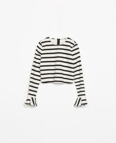 STRIPED TOP WITH FRILLY CUFF - Collection - Stock clearance - TRF - SALE | ZARA United