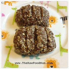 The Raw Food Mums Honey Buns! Raw bread especially for kids! Recipe in The Raw Food Kids book due out in June!
