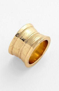 Melinda Maria 'Hammered-Drew' Cigar Band Ring