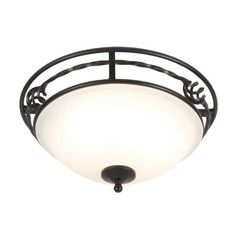 Marlow Home Co. Crafted from hand-forged iron, this ceiling light is the perfect way to refresh your living room or bedroom. Marlow, Semi Flush Ceiling Lights, Polished Nickel, Black Gold, Glass, Home, Lounge, Iron, Homes