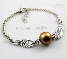 Harry Potter Wing Bracelet Bronze Tone And Silver ToneThe Golden Snitch Bracelets Harry Potter Jewelry Handmade Gift $1.04 | DHgate.com