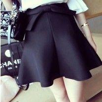 High waist skirt is a must have in your closet.  It helps to cover up the love handles.