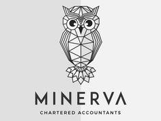 Geometric Owl Logotype