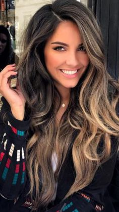 17 Stunning Examples of Balayage Dark Hair Color - Style My Hairs Hair Goals Color, Hair Color And Cut, Brown Hair Colors, Balayage Hair, Ombre Hair, Wavy Hair, Haircolor, Hair Transformation, Brunette Hair