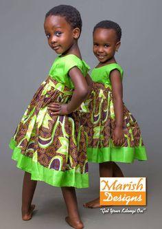 """Marish Design: """"kidswear"""" in African prints fashion design African Inspired Fashion, African Print Fashion, Africa Fashion, African Print Dresses, African Dress, African Prints, African Babies, African Children, African Women"""
