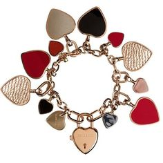 Burberry Heart Charm Bracelet
