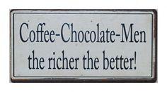 Magnes Coffe - Chocolate - Men LIVEBEAUTIFULLY  9,00 zł Chocolate Men, Chocolate Coffee, Shabby Chic, Good Things, Future, Future Tense, Shabby Chic Style