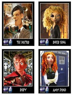 Pixar-styled Doctor Who. All credit to the original artist, whoever that may be.