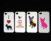 Frenchie French Bulldog Case for Iphone 4 or 4S, so many to choose from.