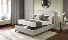 Store extra bedding or clothes in your bedroom with an ottoman bed. Available in wood, leather and fabric. Upholstered Bed Frame, Upholstered Ottoman, Bed Frames For Sale, Tv Beds, Wooden Bed Frames, Wooden Beds, Ottoman Bed, Buy Bed