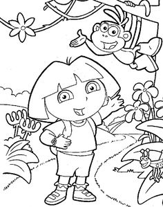 dora coloring lots of dora coloring pages and printables.html
