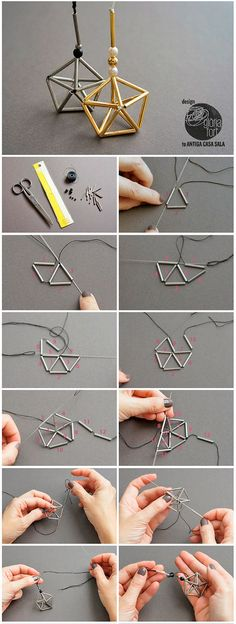 Himmeli-star-process -_- Gloria-Fort We have the 150 best WordPr . - Himmeli-star-process -_- Gloria-Fort We have the 150 best WordPr … – # - Bead Crafts, Jewelry Crafts, Handmade Jewelry, Jewelry Ideas, Beading Projects, Beading Tutorials, Jewelry Patterns, Beading Patterns, Diy Fort