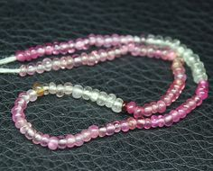 Natural Multi Pink Sapphire Smooth Rondelle Beads Strand – Jewels Exports