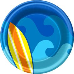 Surf Party Cake Plate