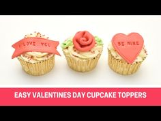 Easy valentines day cupcake toppers tutorial - Cakes
