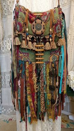 Handmade Ibiza Festival Fringe Cross Body Bag Hippie Boho Gypsy Purse tmyers #Handmade #CrossBodyandHandbag
