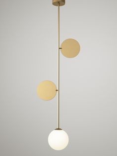 -  Material and fabrication: Brushed brass and glass  Light source: E14 max 40W  Light bulb not included.  2015 Collection  DOWNLOAD DATA SHEET