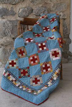 Red Cross Quilt.  The fabrics are from the Clara Barton line from Windham fabrics.makeitdo.com