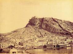 J. Laurent, El castillo de Alicante, hacia el año 1870.
