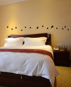 Tiny Flock of Birds Wall Decal Flying Birds Wall Decor Art Sticker