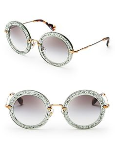 Miu Miu Noir Glitter Glasses