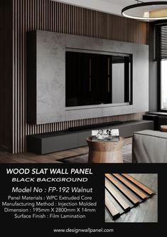 Tv Wall Panel, Wall Panel Design, Tv Wall Design, Wood Panel Walls, Tv Walls, Tv Feature Wall, Feature Wall Design, Wood Slat Wall, Wood Slats