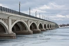 Belle Isle Bridge Detroit michigan