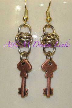 Handmade Chain Maille Earrings - A & M Dream Links