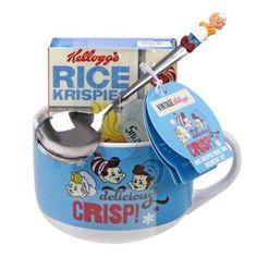 Kelloggs Rice Krispies bowl mug and spoon with Rice Krispies - 22g | Debenhams