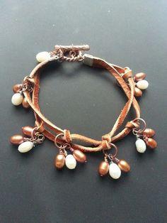 Pearl drops bracelet idea