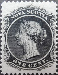 """1860 Scott 11 8 green """"Victoria"""" Quick History Nova Scotia, on the coast of the Atlantic Ocean, and now part of Canada's Maritime . Old Stamps, Rare Stamps, Vintage Stamps, Crown Colony, Postage Stamp Art, Painted Gourds, Wood Burning Patterns, Inca, Queen Victoria"""