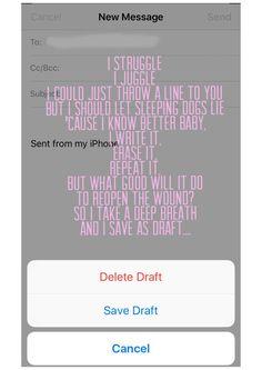 """Save As Draft"" - Katy Perry"