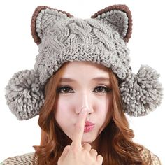 cable crochet cat hat - Google Search