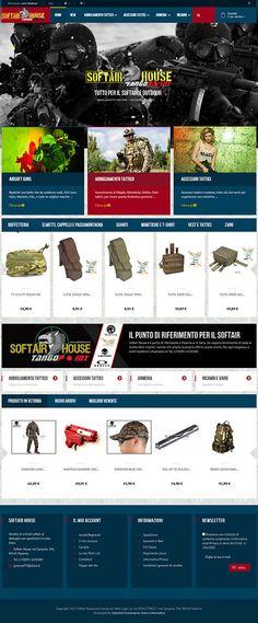 www.softairhouse.it - ecommerce sviluppato da Arte e Informatica